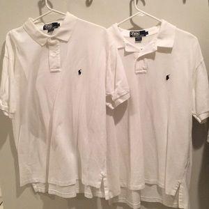 Men's White Polos